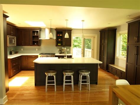 Laundry room curtains, columns open concept kitchen with
