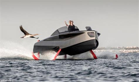 Hydrofoil Boat Works by Enata Marine S Foiler Revealed Daily Mail