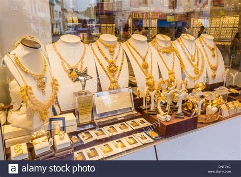 Gold Jewelry, Little India, Singapore Stock Photo, Royalty