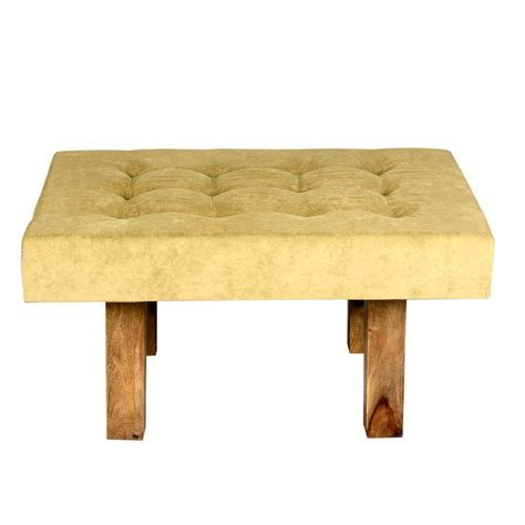 Tufted Fabric Coffee Table by Contemporary Solid Wood Tufted Fabric Coffee Table Ottoman