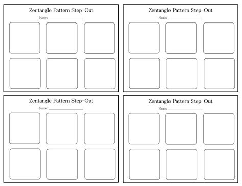 zentangle tile template midnight pixy designs resources