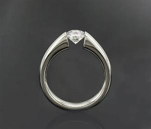 Inset diamond engagement ring custom diamond rings for Inset wedding rings