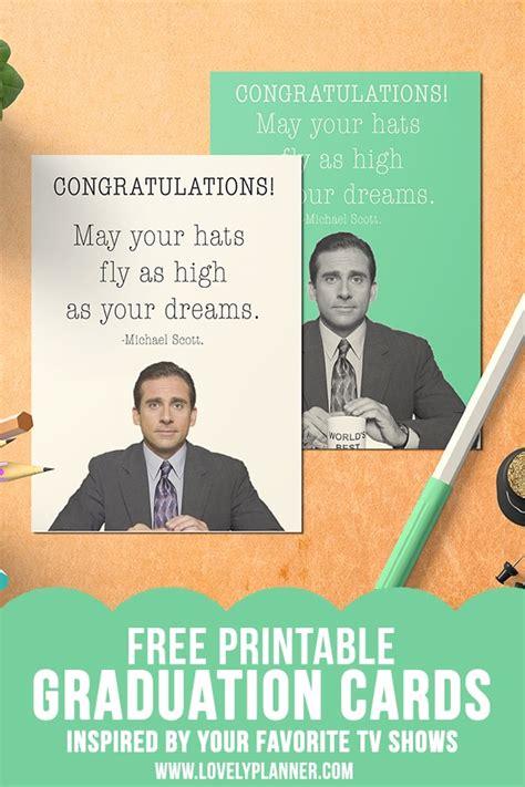 printable graduation card  office michael scott