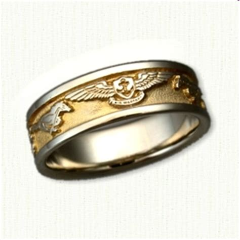 military inspired wedding rings affordable unique gold