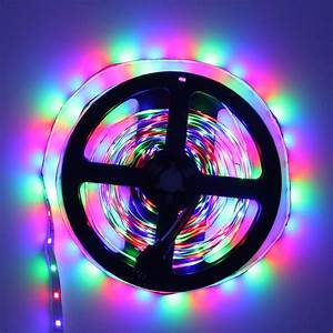 Ip20 Not Waterproof Rgb Led Strip Flexible Lights Dc12v Smd 2835 Compete 5050 5630 300led 5m
