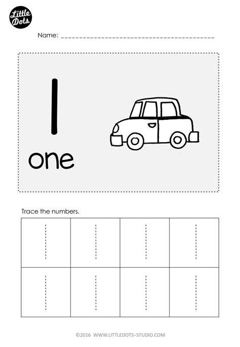 number  worksheet  pre  level practice  trace