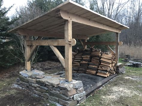 finished   woodshed  time  winter woodworking