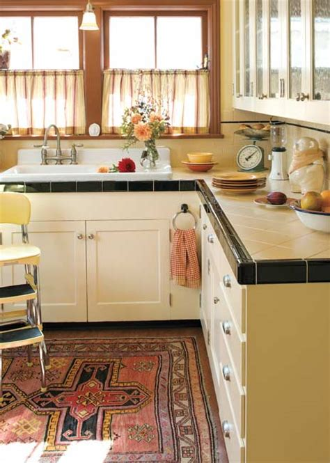 white tile kitchen countertops today s use of tile in classic kitchens house 1474