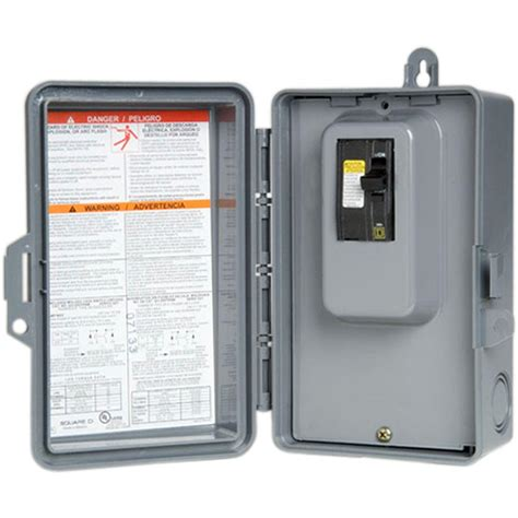 Spa Gfci 50 Receptacle Wiring by Square D Qo 60 240 Volt 7 5 Kw Non Fuse Ac Disconnect