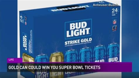 bud light gold can contest gold beer can could win you super bowl tickets kgw com