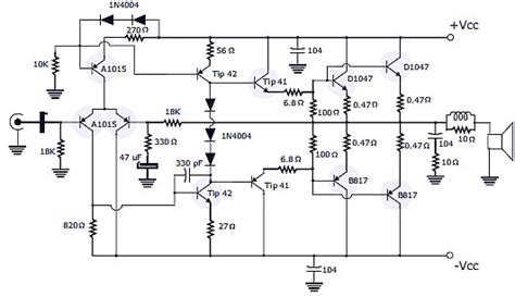 rms stereo power amplifier schematic pcb design