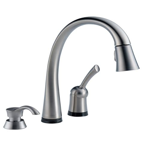 delta faucet kitchen delta 980t arsd dst pilar arctic stainless steel one