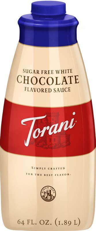 sugar  white chocolate sauce product torani