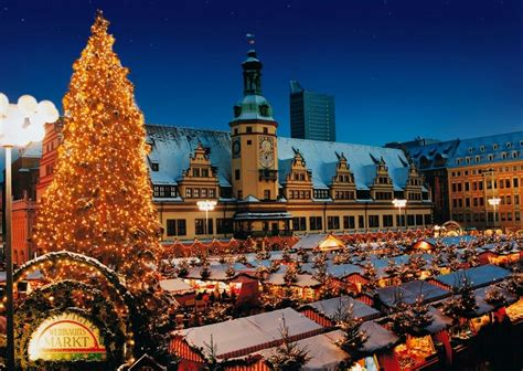 Weihnachten In Deutschland by Leipzig Germany Market By The Town
