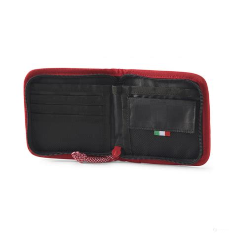 Securely store cash, various cards and licenses as well as other small personal belongings. 2020, Red, Puma Ferrari Fanwear Wallet