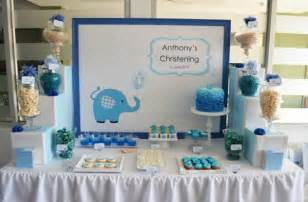 kara s ideas blue elephant boy christening baptism planning ideas decor