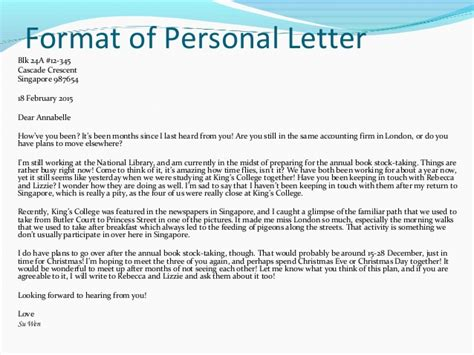write  personal letter   write letter