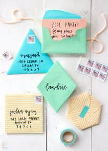 diy envelope fold your own geometric envelopes camille styles