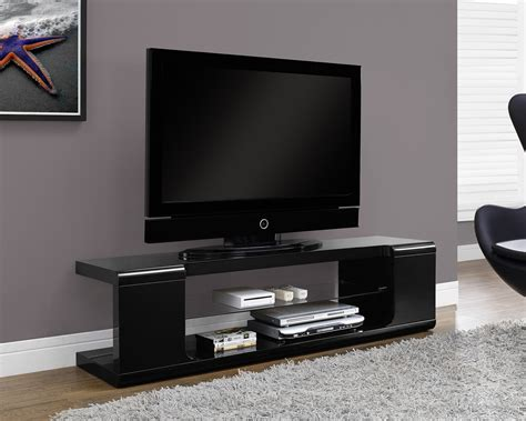 monarch specialties tv stand  high glossy black