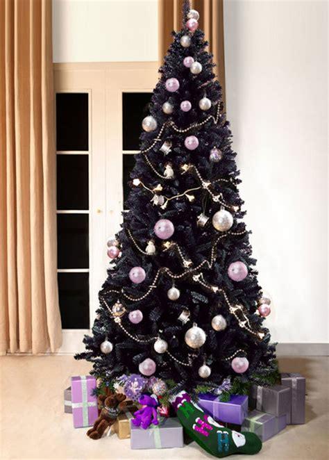 slimline bergen fir black christmas tree artificial