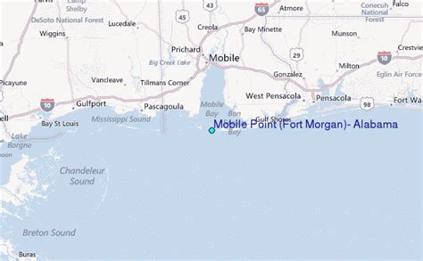 mobile point fort morgan alabama tide station location