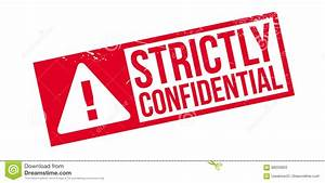 Strictly Confidential Rubber Stamp Stock Image - Image ...