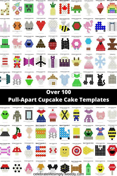 pull  cupcake cake templates cupcake cakes