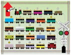 Printable Train Reward Chart for Kids