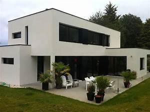 Maison Moderne Toit Plat : maison moderne a toit plat ~ Nature-et-papiers.com Idées de Décoration