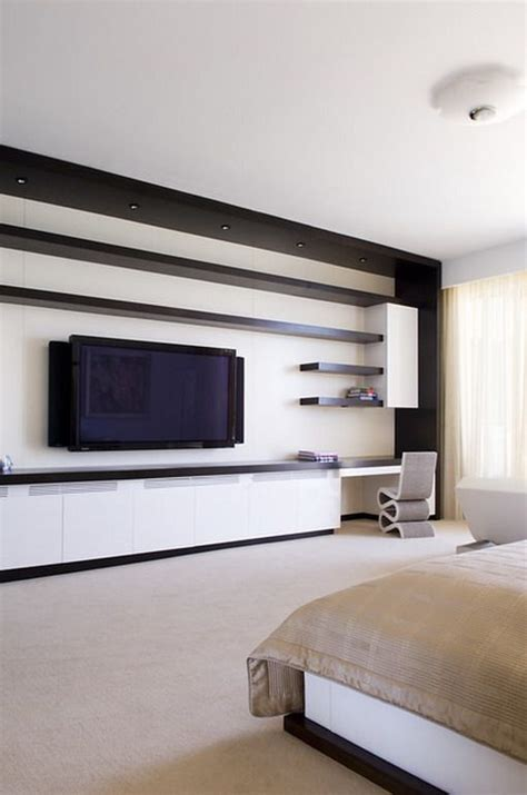 Tv In Bedroom Design Ideas by Contemporary Bedroom Wall Units Modern Wall Tv Unit In