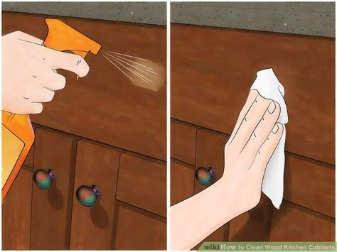 cleaning wood kitchen cabinets 3 ways to clean wood kitchen cabinets wikihow 5469