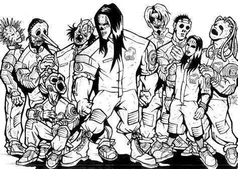 Slipknot Coloring Pages - Sanfranciscolife