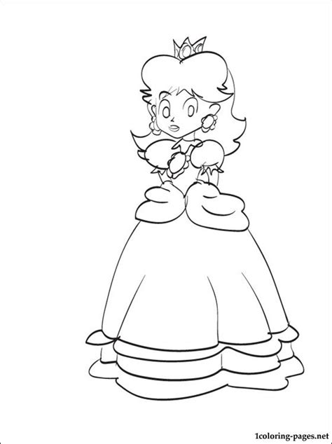 princess daisy mario coloring page  print coloring pages