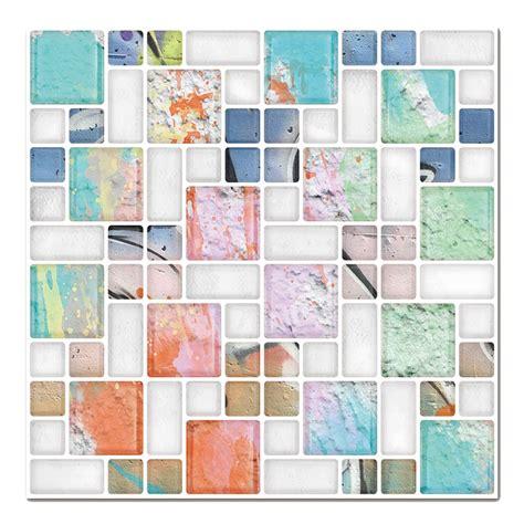stick on kitchen wall tiles cocotik self adhesive wall tile peel and stick backsplash 8351
