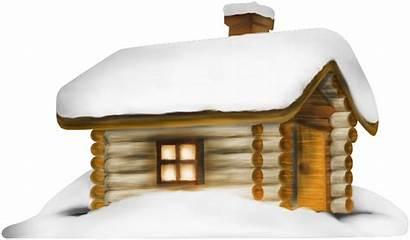 Snow Winter Clipart Transparent Yopriceville Cabin Snowy