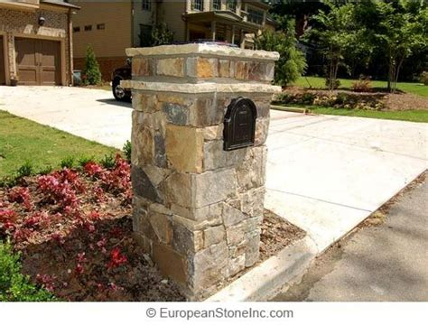 brick l post designs end of driveway stone light post with mailbox car park