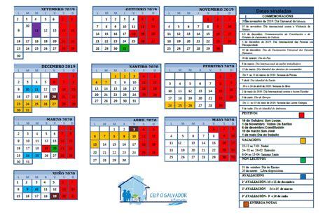 calendario escolar ceip salvador