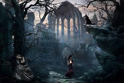 Gothic Fantasy Landscape Wallpapersafari