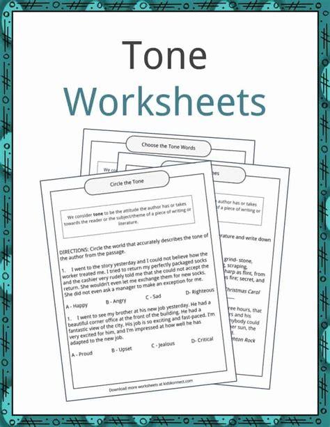 tone exles definition and worksheets kidskonnect