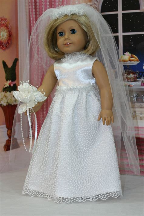 american girl wedding gown   doll wedding dress full