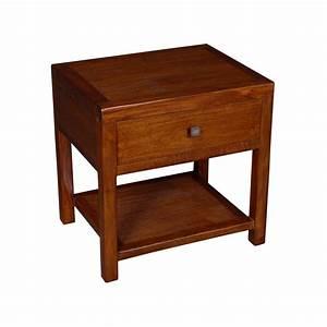 Table De Chevet Bois : chevet bois exotique maison design ~ Teatrodelosmanantiales.com Idées de Décoration