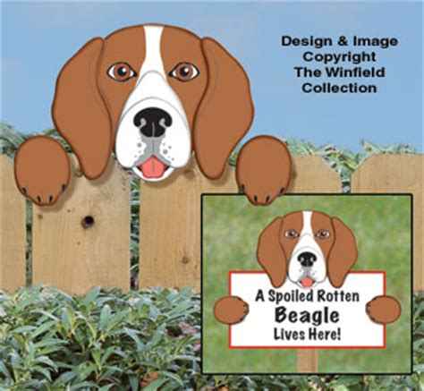yard garden projects beagle fence peeker pattern