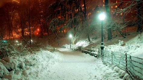 Winter New York Wallpaper 1920x1080 by Hd Wallpaper Central Park Winter Lantern Path New