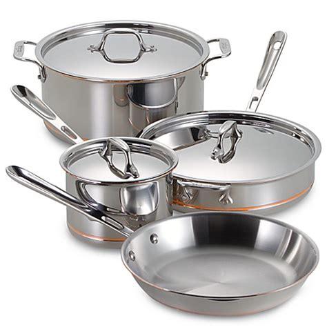 clad copper core  piece cookware set  open stock wwwbedbathandbeyondcom
