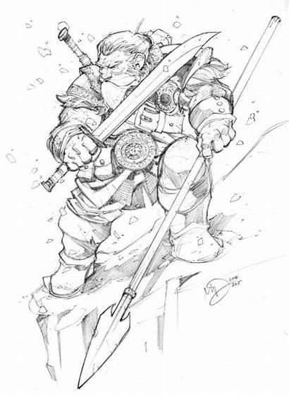 Dwarf Sketch Dunbar Max Character Snow Deviantart