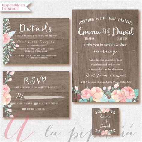 wood wedding suit wedding invitation wedding rsvp card