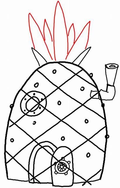 Spongebob Draw Pineapple Drawing Squarepants Step Easy
