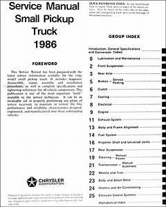 1986 Dodge Ram 50 Truck Repair Shop Manual Original