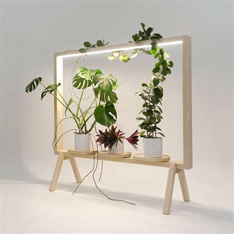 johan kauppi launches illuminated frame  potted plants