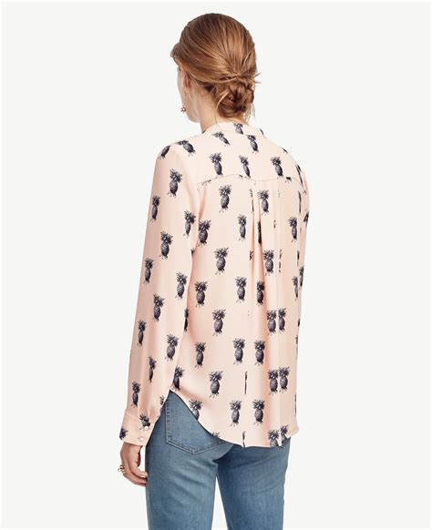 pineapple blouse pineapple button blouse in lyst